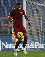 Calcio, Serie A: Roma vs Milan. Roma, stadio Olimpico, 9 gennaio 2016.<br /> Roma's Antonio Ruediger in action during the Italian Serie A football match between Roma and Milan at Rome's Olympic stadium, 9 January 2016.<br /> UPDATE IMAGES PRESS/Riccardo De Luca