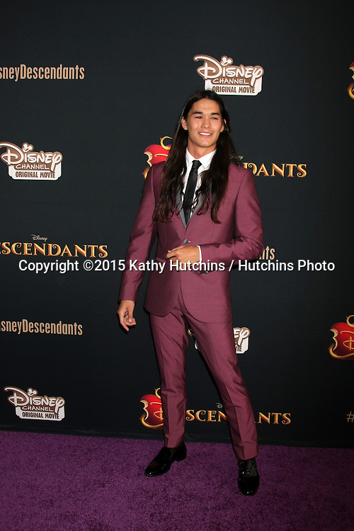 "LOS ANGELES - JUL 24:  BooBoo Stewart at the ""Descendants"" Premiere Screening at the Walt Disney Studios on July 24, 2015 in Burbank, CA"