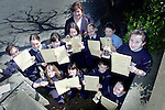 Pupils from Laytown National School who recieved certificates for the Beginner Recorder section of the Toccata House Millenium Music Competition which was held in the Europa Hotel. Pictured are Alanna Clarke, Phoebe Smith Duff, Sinead Farren, Lillian Hill, Shireen Piper, Asling Gough, Sarah Kehoe, Gemma Byrne, Abigal Smith Duff, Christina McHugh, Alexander Tallon and thier teacher Noreen Dunne..Picture Paul Mohan Newsfile