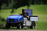 Clock Shot buggy during previews for the Shot Clock Masters, Diamond Country Club, Atzenbrugg, Vienna, Austria. 06/06/2018<br /> Picture: Golffile | Phil Inglis<br /> <br /> All photo usage must carry mandatory copyright credit (&copy; Golffile | Phil Inglis)