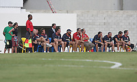 The USA coaching staff watches a.USA 1-0 over Barbados, at the Kensington Oval in Bridgetown, Barbados, Sunday, June 22, 2008. The U.S. MNT advance to Semifinal Round of FIFA World Cup Qualifying With 9-0 Aggregate Score Against Barbados .