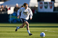 Notre Dame Fighting Irish forward Rose Augustin (15). The North Carolina Tar Heels defeated the Notre Dame Fighting Irish 2-1 during the finals of the NCAA Women's College Cup at Wakemed Soccer Park in Cary, NC, on December 7, 2008. Photo by Howard C. Smith/isiphotos.com