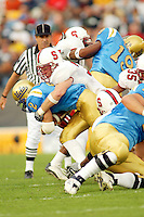 Jake Covault during Stanford's 28-18 loss to UCLA on October 26, 2002 in Los Angeles, CA.<br />