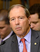 "United States Senator Tom Udall (Democrat of New Mexico) questions the witnesses during testimony before the United States Senate Committee on Foreign Relations concerning ""Sanctions and the Joint Comprehensive Plan of Action (JCPOA)"" on Capitol Hill on Wednesday, July 29, 2015.<br /> Credit: Ron Sachs / CNP"
