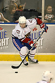 March 15, 2009:  Defenseman Yannick Weber (7) of the Hamilton Bulldgos, AHL affiliate of Montreal Canadians, during the third period of a regular season game at the Blue Cross Arena in Rochester, NY.  Hamilton defeated Rochester 4-3 in a shoot out.  Photo Copyright Mike Janes Photography 2009