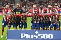 Atletico de Madrid vs Huesca Spanish league football match at Wanda Metropolitano in Madrid on September 25, 2018.<br /> Atlativo's team
