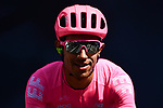 Yesterday's stage winner Daniel Felipe Martinez (COL) EF Education First at sign on before the start of Stage 8 of the 77th edition of Paris-Nice 2019 running 110km from Nice to Nice, France. 16th March 2019<br /> Picture: ASO/Alex Broadway | Cyclefile<br /> All photos usage must carry mandatory copyright credit (&copy; Cyclefile | ASO/Alex Broadway)