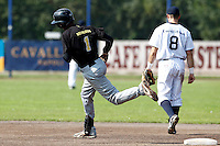 03 September 2011: Roeland JR. Henrique of L&D Amsterdam Pirates runs the bases during game 1 of the 2011 Holland Series won 5-4 in inning number 14 by L&D Amsterdam Pirates over Vaessen Pioniers, in Hoofddorp, Netherlands.