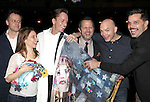 Michael Grandage, Elena Roger, Matt Wall, Rob Ashford, Michael Cerveris & Ricky Martin.attending the Broadway Opening Night Actors' Equity Gypsy Robe Ceremony for recipient Matt Wall in 'EVITA' at the Marquis Theatre in New York City on 4/6/2012