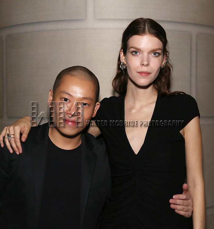 Jason Wu and Meghan Collinson  attend the 2017 Dramatists Guild Foundation Gala reception at Gotham Hall on November 6, 2017 in New York City.