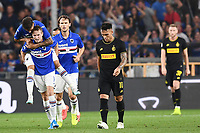 Jokub Jankto of Sampdoria celebrates after scoring the goal of 11-2 for his side <br /> Genova 28-09-2019 Stadio Luigi Ferraris Football Serie A 2018/2019 Sampdoria - FC Internazionale  <br /> Photo Image Sport / Insidefoto