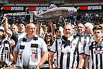 Grimsby Town fans during the 2015 Vanarama Conference Promotion Final match between Grimsby Town and Bristol Rovers at Wembley Stadium, London<br /> Picture by David Horn/eXtreme aperture photography +44 7545 970036<br /> 17/05/2015
