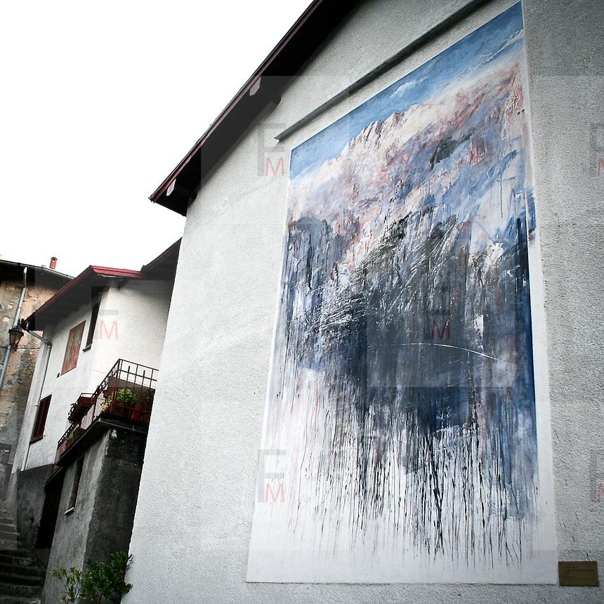 """Arcumeggia il paese dipinto in provincia di Varese. """"Nelle Alpi, cuore d'Europa, Le radici dell'Unione Europea"""" di Antonio Pedretti"""