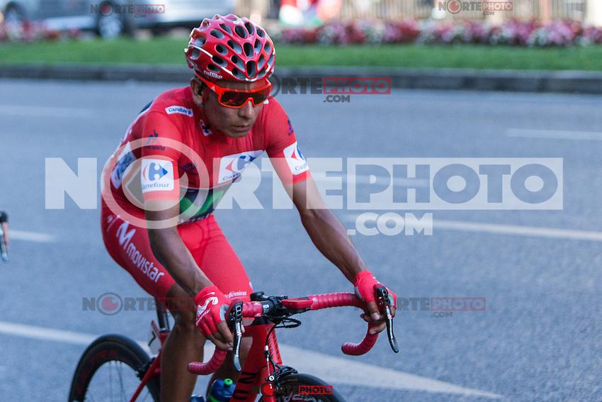 Colombian cyclist Nairo Quintana of Movistar team during the last stage or La Vuelta of Spain in Madrid. September 10, 2016. (ALTERPHOTOS/Rodrigo Jimenez) NORTEPHOTO.COM