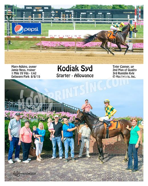 Kodiak Syd winning at Delaware Park on 8/8/15