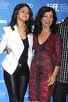 TORONTO, ON - SEPTEMBER 08: Selena Gomez and Fran Drescher at 'Hotel Transylvania' press conference during the 2012 Toronto International Film Festival held at TIFF Bell Lightbox on September 8, 2012 in Toronto, Ontario. ©mpi01/MediaPunch Inc. /NortePhoto.com<br /> <br /> **CREDITO*OBLIGATORIO** *No*Venta*A*Terceros*<br /> *No*Sale*So*third*...