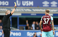 Burnley's Scott Arfield is shown a yellow card <br /> <br /> Photographer Rachel Holborn/CameraSport<br /> <br /> The Premier League - Everton v Burnley - Sunday 1st October 2017 - Goodison Park - Liverpool<br /> <br /> World Copyright &copy; 2017 CameraSport. All rights reserved. 43 Linden Ave. Countesthorpe. Leicester. England. LE8 5PG - Tel: +44 (0) 116 277 4147 - admin@camerasport.com - www.camerasport.com