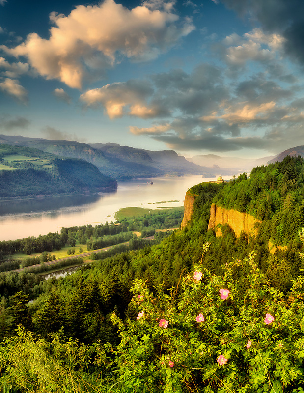 Columbia River Gorge and Crown Point, Oregon.