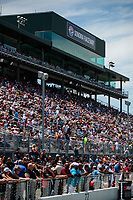 Jul 29, 2018; Sonoma, CA, USA; NHRA fans in the main grandstands during the Sonoma Nationals at Sonoma Raceway. Mandatory Credit: Mark J. Rebilas-USA TODAY Sports