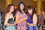 Jane Enright, Nicole O'Sullivan and Stacey Enright, enjoying the fashion show in aid of the Motor Neurone Disease Association and the Palliative Care Unit at Kerry General Hospital, held in the Brandon Hotel on Saturday evening.