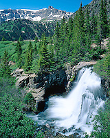 Yankee Boy Falls is situated high in the San Juan Mountains in Yankee Boy Basin
