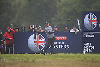 Lucas Bjerregaard (DEN) on the 2nd tee during Round 4 of the Sky Sports British Masters at Walton Heath Golf Club in Tadworth, Surrey, England on Sunday 14th Oct 2018.<br /> Picture:  Thos Caffrey | Golffile<br /> <br /> All photo usage must carry mandatory copyright credit (&copy; Golffile | Thos Caffrey)