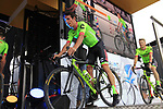 Rigoberto Uran (COL) Cannondale-Drapac team on stage at the Team Presentation in Burgplatz Dusseldorf before the 104th edition of the Tour de France 2017, Dusseldorf, Germany. 29th June 2017.<br /> Picture: Eoin Clarke | Cyclefile<br /> <br /> <br /> All photos usage must carry mandatory copyright credit (&copy; Cyclefile | Eoin Clarke)