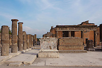 Comitium, Pompeii, Italy. Located on the South East side of the Forum, the Comitium was where the Pompeiians voted in elections
