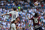 Real Madrid's Garet Bale and Eibar's Mauro dos Santos durign the match of La Liga between Real Madrid and SD Eibar at Santiago Bernabeu Stadium in Madrid. October 02, 2016. (ALTERPHOTOS/Rodrigo Jimenez)