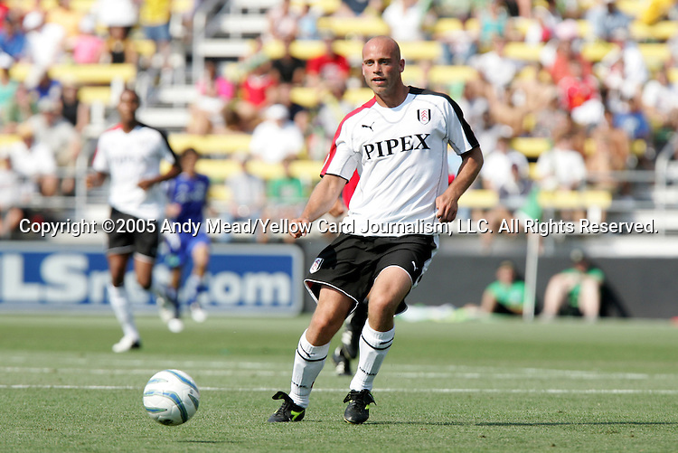 30 July 2005: Claus Jensen. Major League Soccer's All-Stars defeated Fulham FC of the English Premier League 4-1 at Columbus Crew Stadium in Columbus, Ohio in the 2005 Sierra Mist MLS All-Star Game.