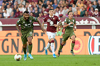 27th October 2019; Olympic Grande Torino Stadium, Turin, Piedmont, Italy; Serie A Football, Torino versus Cagliari; Joao Pedro of Cagliari chases a through ball - Editorial Use