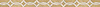 """2 13/16"""" Connecting Circles border, a waterjet mosaic shown in honed Ivory Cream and Jerusalem Gold, is part of the Silk Road® collection by New Ravenna."""