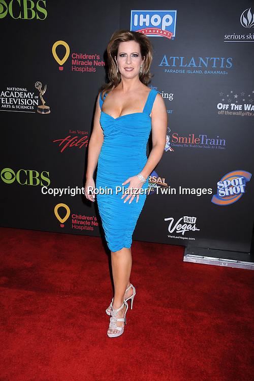 Martha Byrne  in Nicole Miller dress arriving at the 38th Annual Daytime Emmy Awards  on June 19, 2011 at The Las Vegas Hilton in Las Vegas Nevada. ..