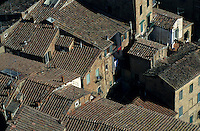 Rooftops seen from Torre del Mangia, Siena, Italy.