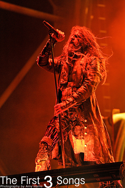 Rob Zombie of Rob Zombie performs during day one of the 2011 Rock Fest on July 14, 2011 in Cadott, Wisconsin.