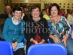 Bernadette McQuillan, Marie McCullough and Pauline Byrne at the Social evening in Drumshallon Forge. Photo:Colin Bell/pressphotos.ie