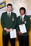 Boys Basketball finalists Robert Loe & Shaquille Hohipa-Wilson. ASB College Sport Auckland Secondary School Young Sports Person of the Year Awards held at Eden Park on Thursday 12th of September 2009.