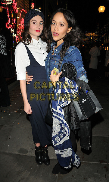 Victoria Emslie and Tanya Fear at the Coach flagship store opening party, Coach, Regent Street, London, England, UK, on Thursday 24 November 2016. <br /> CAP/CAN<br /> &copy;CAN/Capital Pictures