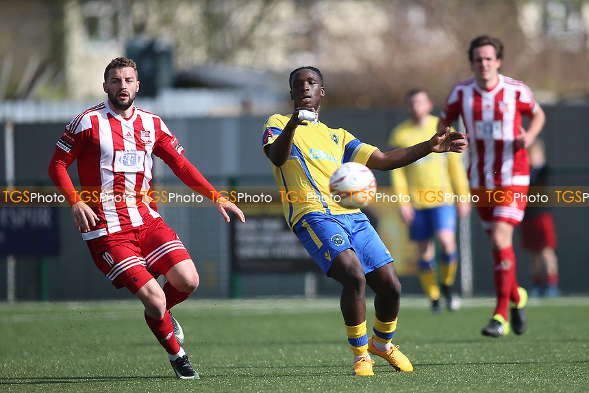 Scott  Durojaiye of Haringey  during Haringey Borough vs Bowers & Pitsea, Ryman League Division 1 North Football at Coles Park Stadium on 15th April 2017