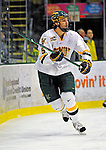 20 February 2009: University of Vermont Catamount forward Brayden Irwin, a Junior from Toronto, Ontario, in action against the University of Massachusetts River Hawks during the first game of a weekend series at Gutterson Fieldhouse in Burlington, Vermont. The teams battled to a 3-3 tie. Mandatory Photo Credit: Ed Wolfstein Photo