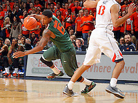 Miami guard Rion Brown (15)  during an NCAA basketball game Saturday Feb, 24, 2014 in Charlottesville, VA. Virginia defeated Miami 65-40.