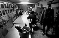 Meeting Room at Hospital during Revolution after Dictator Ceaucescus Dead, Arad, Romania 1990