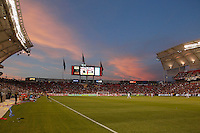 the sun sets as a game against Real Salt Lake and D.C. United is played at the U.S. Open Cup Final on October  1, 2013 at Rio Tinto Stadium in Sandy, Utah.