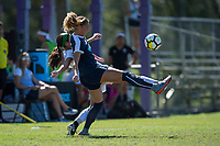Sanford, FL - Saturday Oct. 14, 2017:  Players battle for the ball during a US Soccer Girls' Development Academy match between Orlando Pride and NC Courage at Seminole Soccer Complex. The Courage defeated the Pride 3-1.