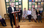 Minister Noel Daveron speaking at the opening of the coffee shop in An Grianan..Picture Paul Mohan Newsfile