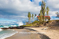 64795-00809 Point Betsie Lighthouse on Lake Michigan, Benzie County, Frankfort, MI