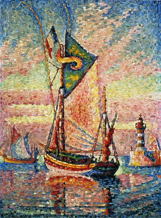 The Port of Concarneau, 1929.<br /> Paul Signac (1863–1935)<br /> Japan, Tokyo, Bridgestone Museum of Art