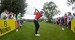 Wales Gareth Bale tees off on the forth<br /> <br /> Golf - Day 1 - Celebrity Cup - Saturday 4th July 2015 - Celtic Manor Resort  - Newport<br /> <br /> &copy; www.sportingwales.com- PLEASE CREDIT IAN COOK