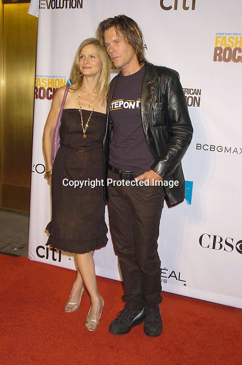 Kyra Sedgwick and Kevin Bacon ..at the Conde Nast Media Group Fashion Rocks second annual live concert on September 8, 2005 at Radio City Music Hall. ..Photo by Robin Platzer, Twin Images