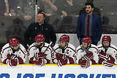 Ty Pelton-Byce (Harvard - 11), Matt Whalen (Harvard - Athletic Trainer), Luke Esposito (Harvard - 9), Devin Tringale (Harvard - 22), Jake Horton (Harvard - 19), Rob Rassey (Harvard - Assistant Coach), Nathan Krusko (Harvard - 13) - The Harvard University Crimson defeated the Providence College Friars 3-0 in their NCAA East regional semi-final on Friday, March 24, 2017, at Dunkin' Donuts Center in Providence, Rhode Island.